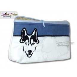 ITH HUSKY Silhouette Cosmetic Bag w. Inside Pockets 3 Sizes