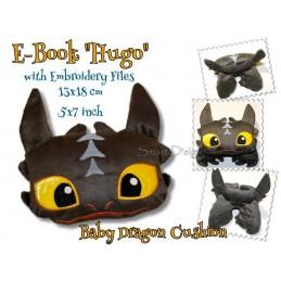 Hugo - Ebook Drachen Kissen mit Stickdateien