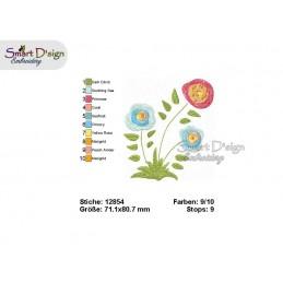 Blume 01 10x10 cm - Teil des Sets Magische Ponies
