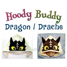 Hoody Buddy Dragon Hugo - 5x7 inch