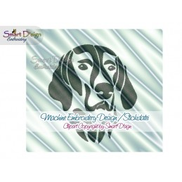 Weimaraner Silhouette Embroidery Design 2 Sizes