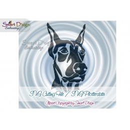 Doberman Silhouette SVG Cutting File