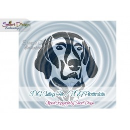 Weimaraner Silhouette SVG Cutting File