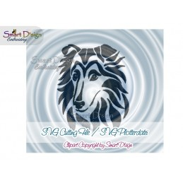 Rough Collie Silhouette SVG Cutting File