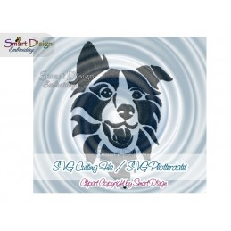 Border Collie Silhouette SVG Cutting File