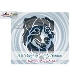Australian Shepherd Silhouette SVG Cutting File