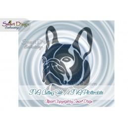 Französische Bulldogge Silhouette SVG Plotterdatei