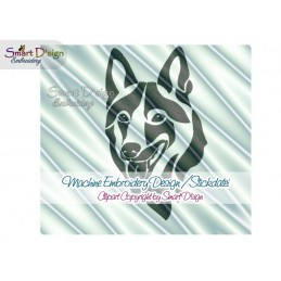 Czechoslovakian Wolfdog Silhouette Embroidery Design 2 Sizes