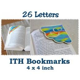 26 Eck-Lesezeichen Alphabet ITH 10x10 cm