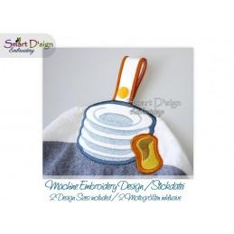 Handtuchhalter TELLER in 2 Größen ITH Stickdatei