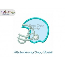 Applique FOOTBALL HELMET 4x4 inch