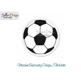 Applikation FUSSBALL 10x10 cm ITH Stickdatei