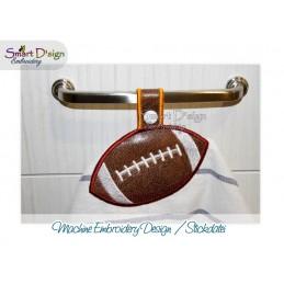 Handtuchhalter FOOTBALL 13x18 cm ITH Stickdatei