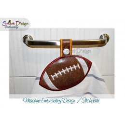 Towel Hanger FOOTBALL 5x7 inch