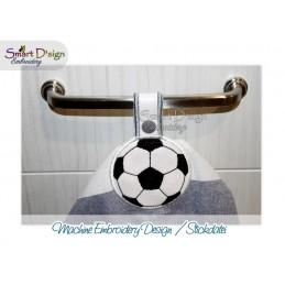 Handtuchhalter FUSSBALL 13x18 cm ITH Stickdatei