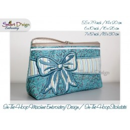 ITH 3x CELEBRATION BOW Cosmetic Bag 3 Sizes