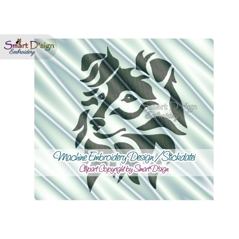 Sheltie Shetland Sheep Dog Silhouette Embroidery Design 2 Sizes
