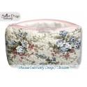 ITH 5.5x7.9 inch Quilt Zipper Bag Hydrangea Applique In the Hoop