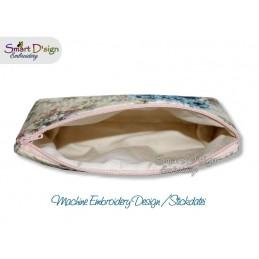 ITH 6x10 inch Quilt Zipper Bag Hydrangea Applique In the Hoop