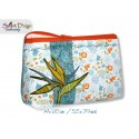 ITH 5.5x7.9 inch Quilt Zipper Bag Strelizia Bird of Paradise Applique In the Hoop