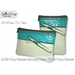 ITH 2x E-Cigs Cosmetic Zipper Bag 5x7 inch