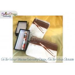 2x ITH E-Zigarette Kosmetiktasche mit Futter 13x18 cm