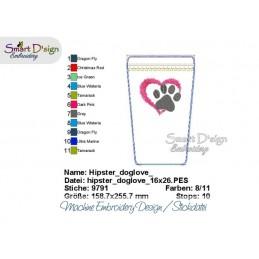 ITH Hip Bag DOG LOVE Machine Embroidery Design