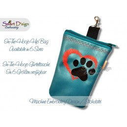ITH Hip Bag DOG LOVE Machine Embroidery Design