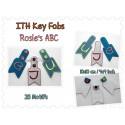 26 x Rosie's ABC Key Fobs ITH 4x4 inch