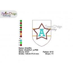 ITH STERN Wimpelkette 13x18 cm Alphabet & Nummern Stickdatei