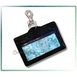 ID Card Holder Coin Purse with Eyelet ITH