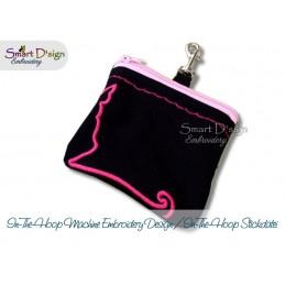 ITH Hip Bag CAT Square Machine Embroidery Design