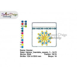 ITH Hip Bag MANDALA Square Machine Embroidery Design