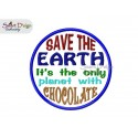 Applique SAVE THE EARTH 5x5 inch Machine Embroidery Design