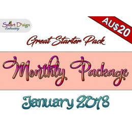 Monthly Package JANUARY 2018 Machine Embroidery Design