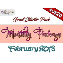 Monthly Package FEBRUARY 2018 Machine Embroidery Design