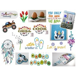 Monthly Package MARCH 2018 - Machine Embroidery Design