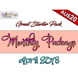 Monatspaket APRIL 2018 - Stickdateien Set