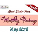 Monthly Package MAY 2018 - Machine Embroidery Design