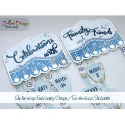 ITH BIRTHDAY CALENDAR 5x7 inch Machine Embroidery Design