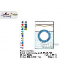 ITH Maritime Fenstertasche Etui in 5 Größen - Stickdatei