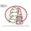 ITH MugRug & Egde Applique Scandinavian Gnomes Machine Embroidery Design