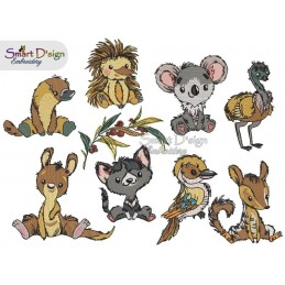 Australian Baby Animals Vol 1 Machine Embroidery Design