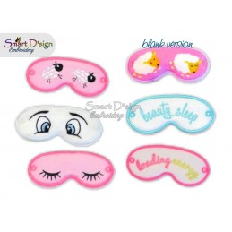 6x ITH Sleeping Masks for 18 inch American / Australian Girl Doll Machine Embroidery Design