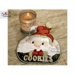 Santas Cookies MugRug Machine Embroidery Design