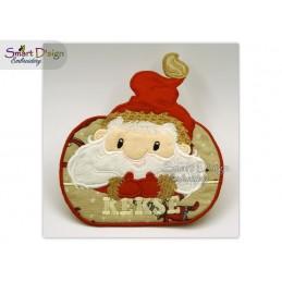 Santas Cookies MugRug Machine Embroidery Design