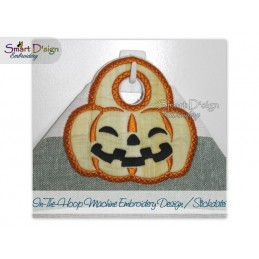 ITH Halloween Towel Topper 4x4 inch Machine Embroidery Design