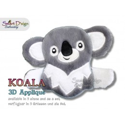 3D Applique KOALA Machine Embroidery Design
