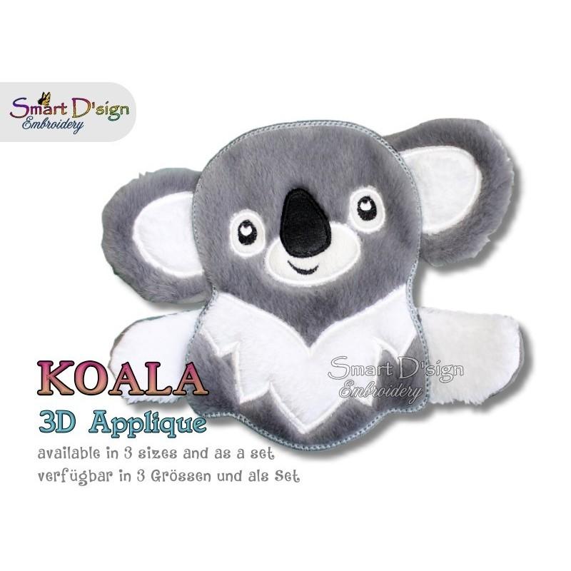 3D Applique KOALA Machine Embroidery Design