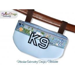 K9 Silhouette Zipper Bag Machine Embroidery Design